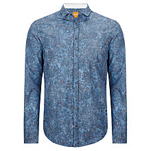Buy BOSS Orange Concepte Floral Print Shirt, Blue Online at johnlewis.com