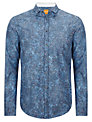 BOSS Orange Concepte Floral Print Shirt, Blue
