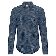 Buy BOSS Orange Epicoe Diamond Print Shirt Online at johnlewis.com