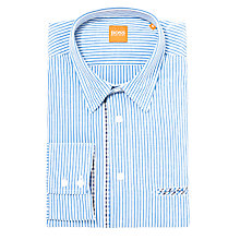 Buy BOSS Orange Cielo Long Sleeve Shirt, Blue Online at johnlewis.com