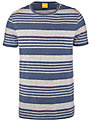 BOSS Orange Teeman Stripe T-Shirt, Blue/Grey