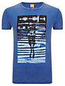 BOSS Orange Tennents Crew Neck T-Shirt, Bright Blue