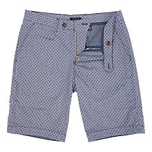 Buy Ted Baker Lorisho Printed Cotton Shorts, Navy Online at johnlewis.com