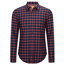 Buy BOSS Orange Cliffe Casual Check Short Sleeve Shirt, Red/Blue Online at johnlewis.com