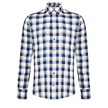 Buy BOSS Orange Edaslime Check Shirt, Blue Online at johnlewis.com