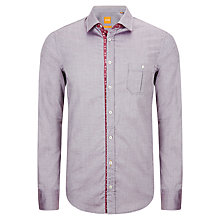 Buy BOSS Orange Eslime Oxford Shirt, Berry Online at johnlewis.com