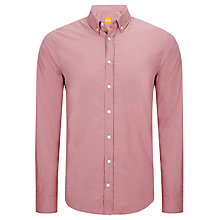Buy BOSS Orange Edipoe Poplin Cotton Shirt, Pink Online at johnlewis.com