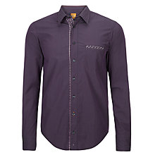 Buy BOSS Orange Cielo Long Sleeve Shirt, Dark Navy Online at johnlewis.com