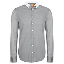 Buy BOSS Orange Edipoe Button Down Collar Shirt, Grey Online at johnlewis.com