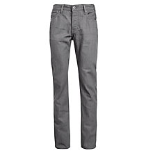 Buy BOSS Orange Straight Jeans, Light Grey Online at johnlewis.com