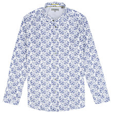 Buy Ted Baker Jonlucy Paisley Print Long Sleeve Shirt, White Online at johnlewis.com