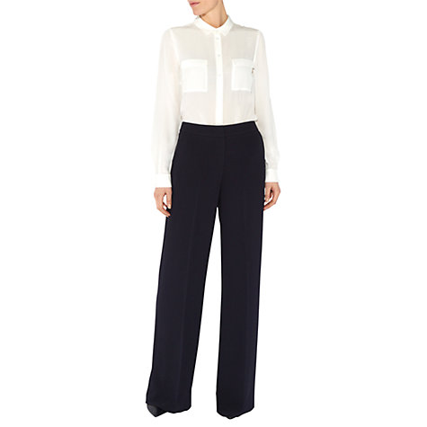 Buy Hobbs Harper Trousers, Navy Online at johnlewis.com