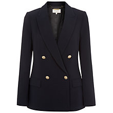 Buy Hobbs Harper Jacket, Navy Online at johnlewis.com