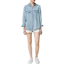 Buy Mango Vintage Denim Shirt, Medium Blue Online at johnlewis.com