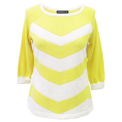 Buy Sugarhill Boutique Zig Zag Sweater, Yellow Online at johnlewis.com