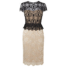 Buy Phase Eight Annalina Lace Bead Dress, Black/Gold Online at johnlewis.com