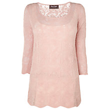 Buy Phase Eight Saya Slub Knit Top, Dusty Pink Online at johnlewis.com