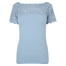 Buy Phase Eight Bea Battenburg Top, Soft Blue Online at johnlewis.com