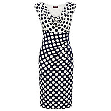 Buy Phase Eight Sassy Spotted Dress, Navy/Ivory Online at johnlewis.com