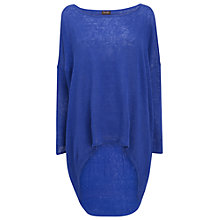 Buy Phase Eight Valencia Elen Ellipse Hem Linen Knit Jumper, Periwinkle Online at johnlewis.com