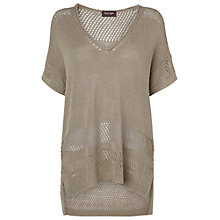Buy Phase Eight Block Stitch Guinevere Top, Stone Online at johnlewis.com