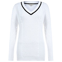 Buy Hobbs Elizabeth Sweater, White Online at johnlewis.com