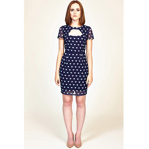 Buy Sugarhill Boutique Sweetheart Dress, Navy Online at johnlewis.com