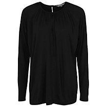 Buy French Connection Misha Jersey Top, Black Online at johnlewis.com