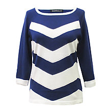 Buy Sugarhill Boutique Zig Zag Sweater, Navy Online at johnlewis.com