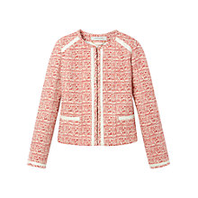 Buy Gérard Darel Tweed Jacket, Red Online at johnlewis.com