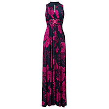 Buy Phase Eight Mariposa Maxi Dress, Navy/Fuchsia Online at johnlewis.com