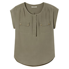 Buy Gérard Darel Silk Blouse, Khaki Online at johnlewis.com