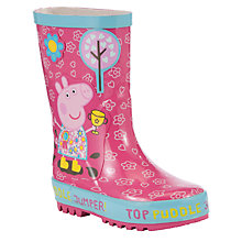 Buy Peppa Pig Childrens' Puddle Jump Peppa Wellington Boots, Pink/Multi Online at johnlewis.com