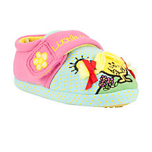Buy John Lewis Girl Little Miss Sunshine Slippers, Pink/Multi Online at johnlewis.com
