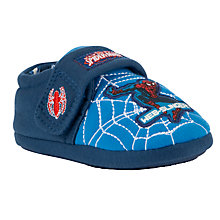 Buy Spiderman Childrens' Slippers, Blue/Multi Online at johnlewis.com