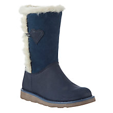 Buy John Lewis Girl Laura Shearling Boots, Brown Online at johnlewis.com