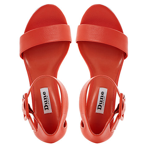 Buy Dune Fri Leather Block Heeled Sandals Online at johnlewis.com