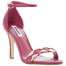 Buy Dune Halette Leather Ankle Strap Stiletto Sandals Online at johnlewis.com