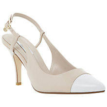 Buy Dune Camila Slingback Court Heels, Nude Online at johnlewis.com