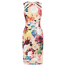 Buy Warehouse Rose Print Shift Dress, Multi Online at johnlewis.com