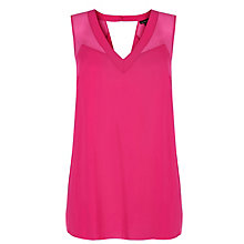 Buy Warehouse Chiffon Mix Vest Online at johnlewis.com