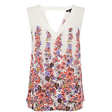 Buy Warehouse Sunray Chiffon Mix Vest, Multi Online at johnlewis.com