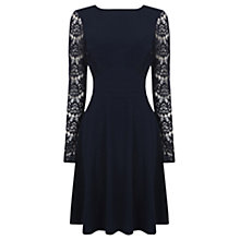 Buy Warehouse Lace Skater Dress, Midnight Online at johnlewis.com