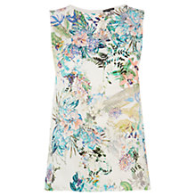 Buy Warehouse Botanical Floral Woven Front Top, Multi Online at johnlewis.com