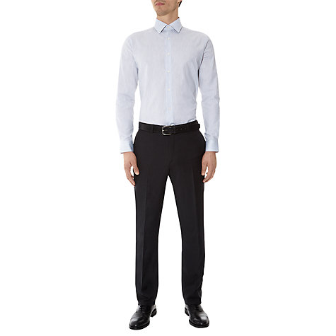 Buy Aquascutum Miles Striped Long Sleeve Shirt, White Online at johnlewis.com