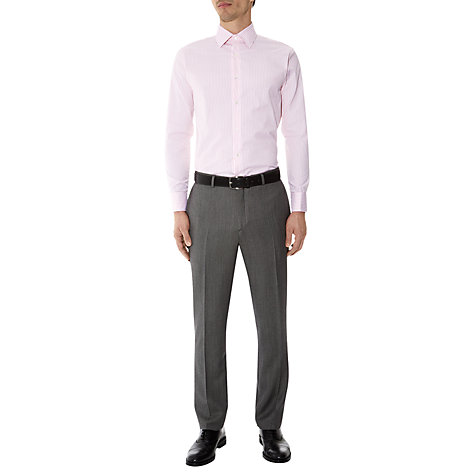 Buy Aquascutum Textured Stripe French Cuff Long Sleeve Shirt, Pink Online at johnlewis.com