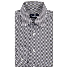 Buy Aquascutum Drake Diamond Print Long Sleeve Shirt, Navy/White Online at johnlewis.com