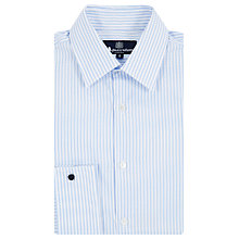 Buy Aquascutum Textured Stripe Long Sleeve Shirt, Blue/White Online at johnlewis.com
