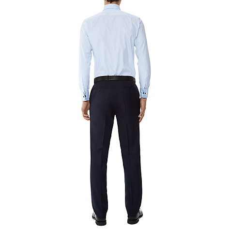 Buy Aquascutum Textured Stripe Double Cuff Shirt, Blue/White Online at johnlewis.com