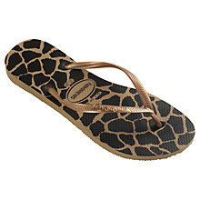 Buy Havaianas Animal Print Flip Flops, Leopard Print Online at johnlewis.com